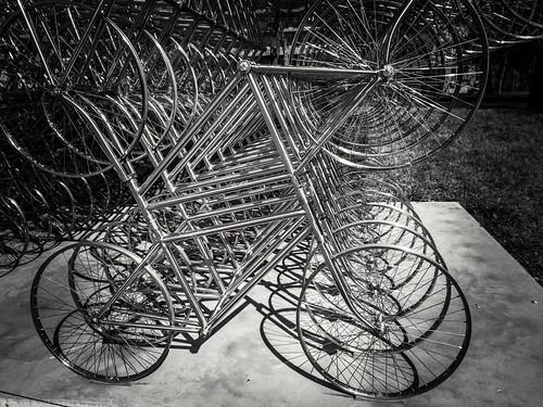 austin texas tx landscape city tourist bike sculpture