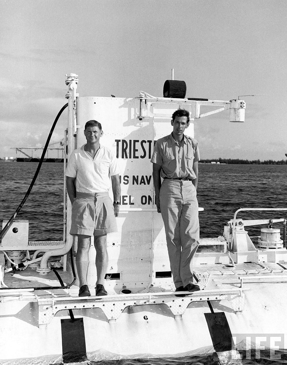 Jacques Piccard, Don Walsh and USS Trieste