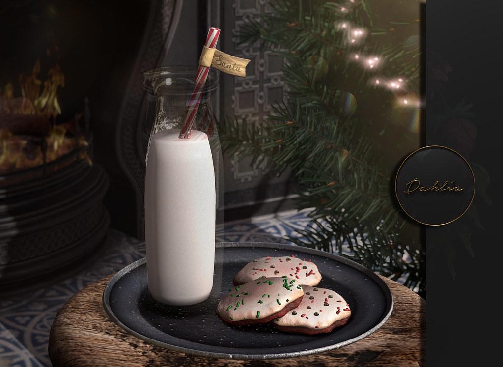 Dahlia – Santa Cookies & Milk – ad