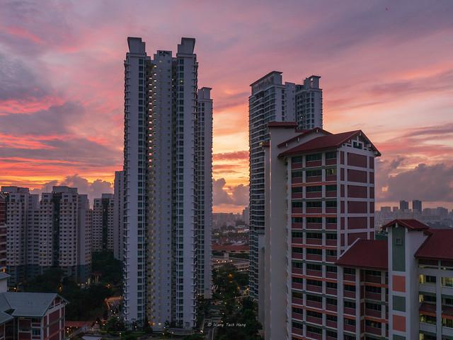 Sunrise - Bishan, Panasonic DMC-GX1, Lumix G Vario 14-45mm F3.5-5.6 Asph. Mega OIS