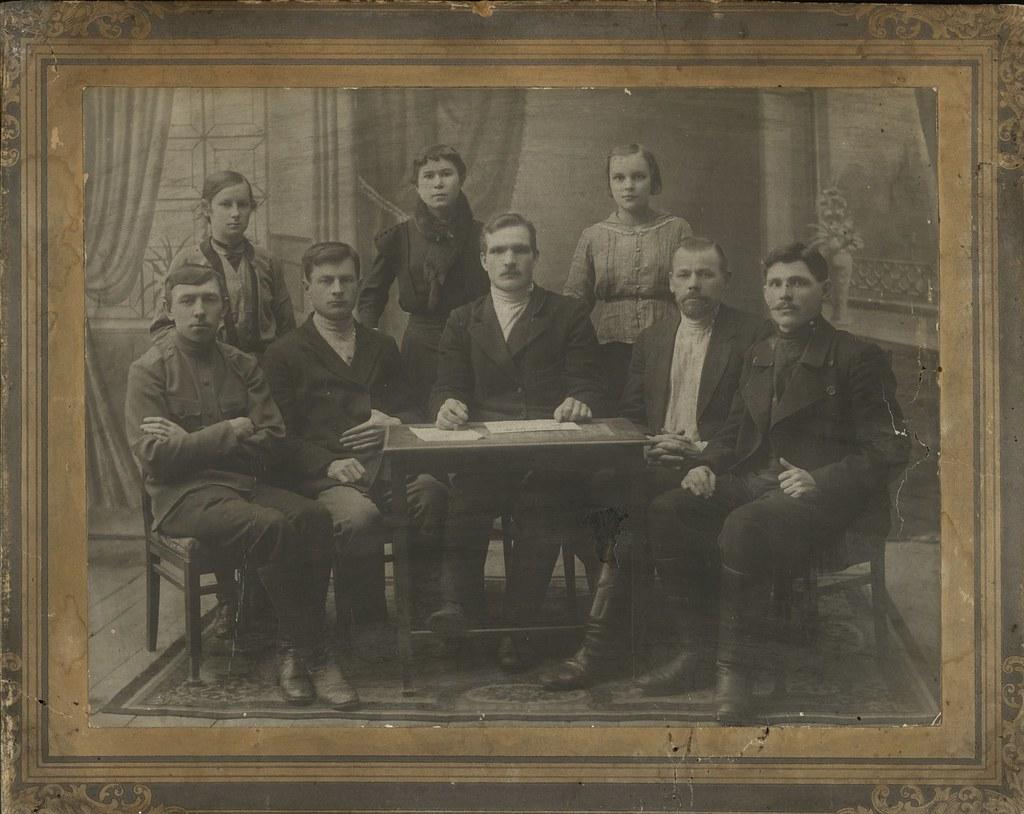 1918. Члены старорусского земельного комитета