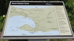 Rock Harbor Area Marker (Isle Royale National Park, Michigan)