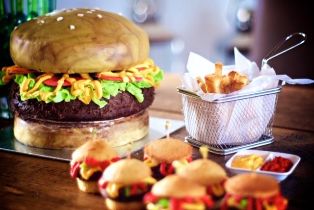 Burger Cake by Dyan Hall