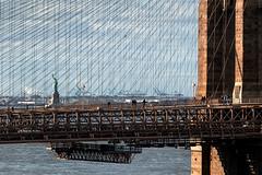 Liberty and Brooklyn Bridge New York City