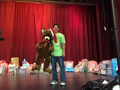 Hawaiian Electric at the HUGS Christmas Party – Dec. 15, 2018 – Here's one of the awesome presents for the keiki.