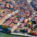 10. Fachadas de color de Burano desde el aire