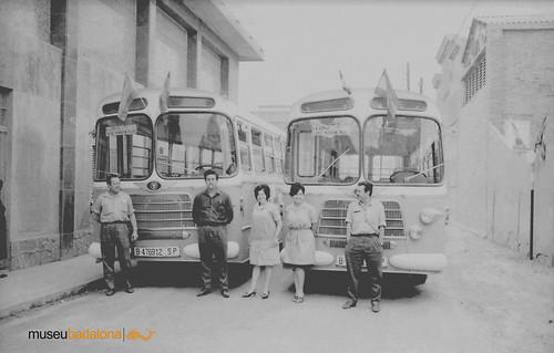 autobusos Nazar amb els xofers i les cobradores