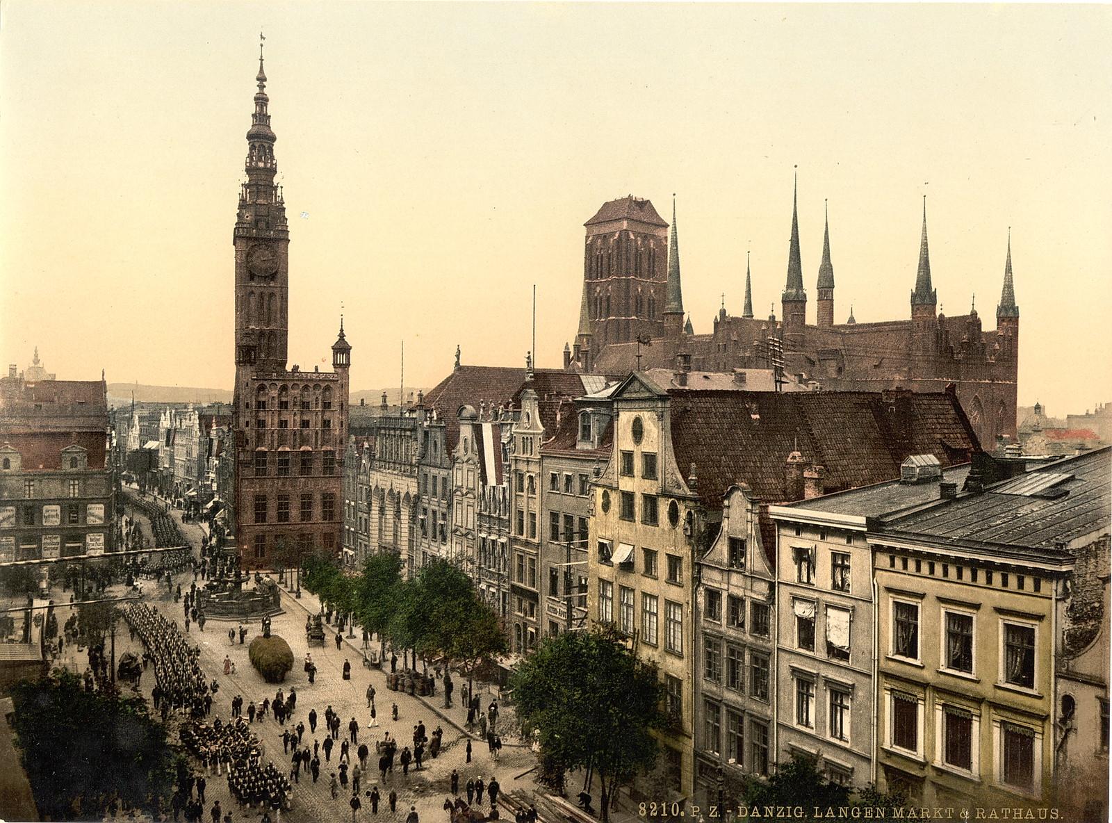 Danzig. Langen markt & rathaus. 1895-1900