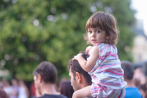 Little Girl Watching Street Theater | by Hattifnattar