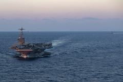 Ships of the John C. Stennis Carrier Strike Group transit the Philippine Sea during dual carrier strike group operations with the Ronald Reagan Carrier Strike Group, Nov. 16. (U.S. Navy/MC3 Connor D. Loessin)