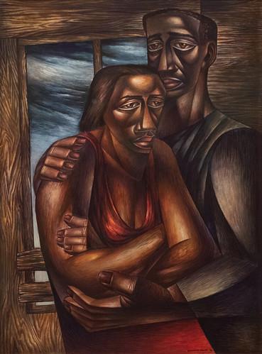 Charles White, Two Alone, 1946 10/5/18 #moma #museummodernart #artmuseum