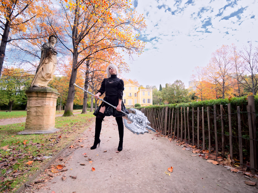 related image - Shooting Nier Automata - 2B - Jardin de la Magalone -2018-11-10- P1388771