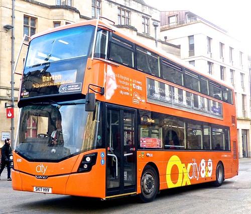 SK17 HHV 'Oxford Bus Company' No. 690 'Oxcity 8&9'. Wright Streetdeck /1 on Dennis Basford's railsroadsrunways.blogspot.co.uk'