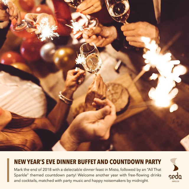 Seda Abreeza New Year's Eve Dinner Buffet and Countdown Party poster