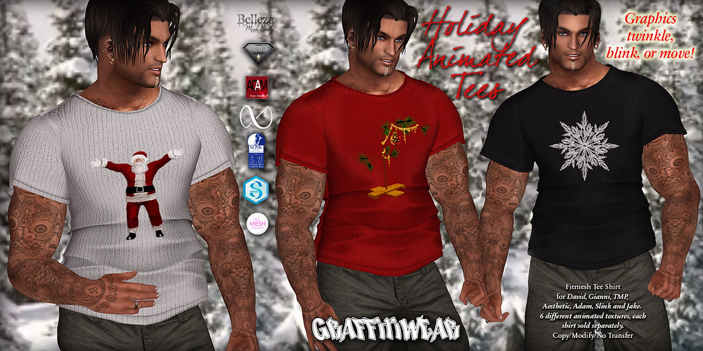 Mens Holiday Animated Tee Ad