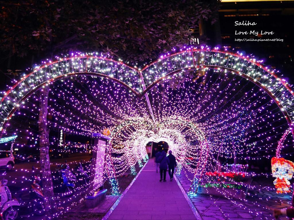 宜蘭礁溪湯圍溝公園附近景點燈光隧道 (1)