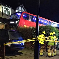London General E on route 118 crashed into a house in Streatham 26/12/18.