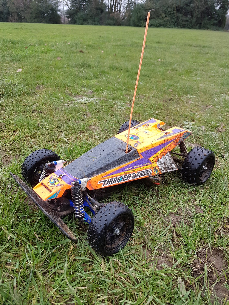 Tamiya Thunder Dragon orange with TRF rear suspension