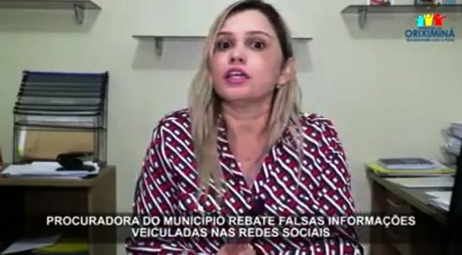 Escândalo do lixo: advogada de Oriximiná repudia blog por suposta ironia sobre ela , procuradora de oriximiná