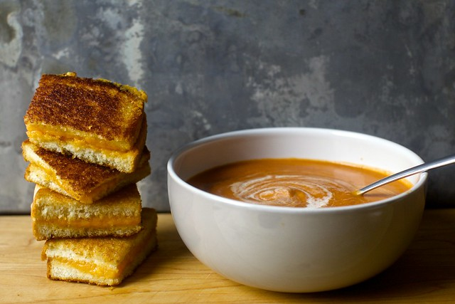 classic cream of tomato soup + grilled cheese