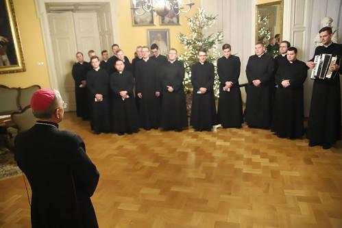 Klerycy z kolędą u metropolity | Abp Marek Jędraszewski, 9.01.2018