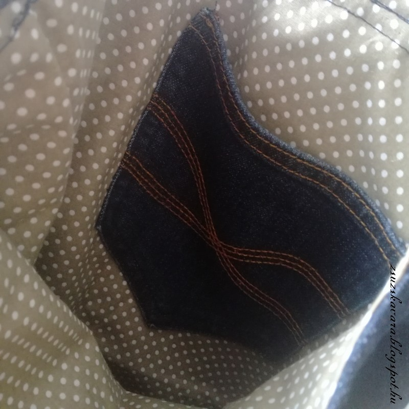 bag from jeans, easy bag, sewing (5)