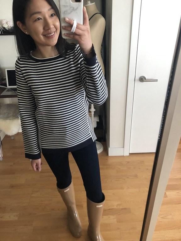 Ann Taylor Mixed Stripe Sweater, size XXS regular