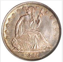 Confederate Half Dollar Scott Restrike obverse