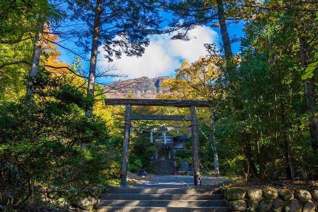 公時神社と金時山