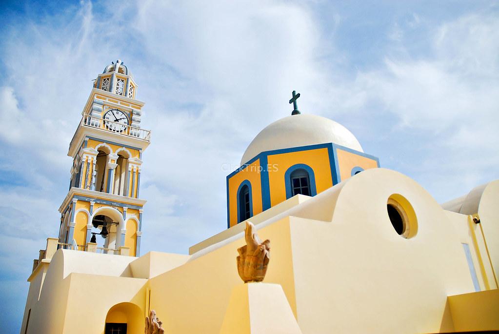 · Catedral católica de San Juan Bautista de Fira · Santorini · ¿Qué ver y hacer en Santorini? · Grecia · ClickTrip ·