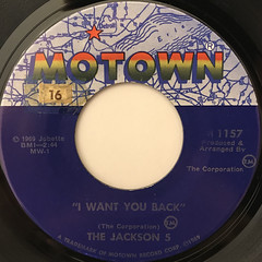 THE JACKSON 5:I WANT YOU BACK(LABEL SIDE-A)