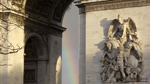 Rainbow at the Arc de Triomphe
