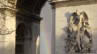 Rainbow at the Arc de Triomphe | by Anthony Surace