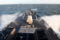 USS Gravely (DDG 107) transits the North Sea.