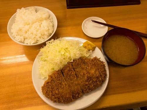 ロースカツ(大)定食@とんかつ山家