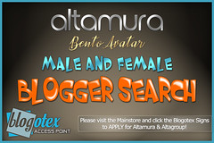 ALTAMURA Male & Female BLOGGER SEARCH Nov 2018