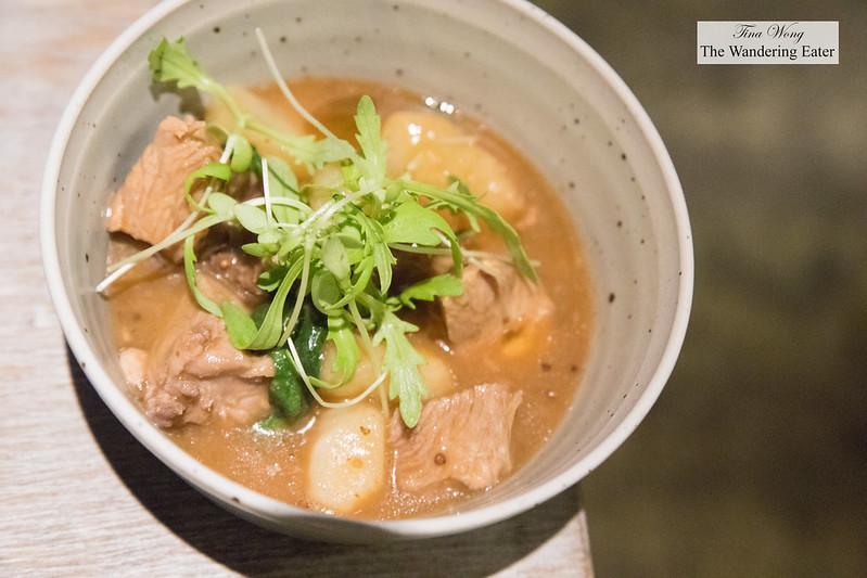 Lamb, gochujang, spinach, perilla seed