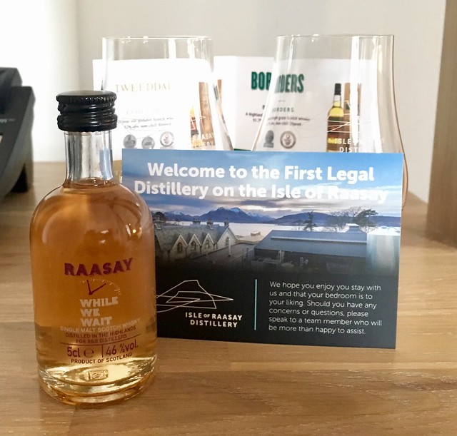 Gift when staying Isle of Raasay Distillery guest house