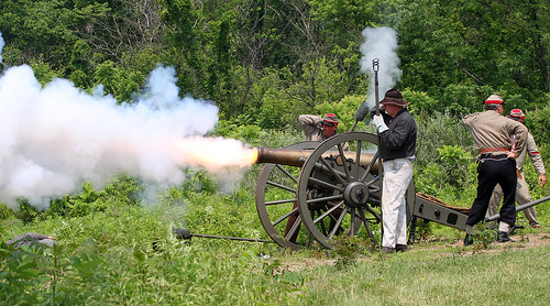 Cannon Crew Fires A Vvolley