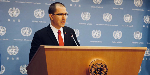 Rueda de prensa del Canciller Jorge Arreaza y encuentro bilateral con el secretario general de la ONU António Guterres
