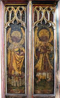 north aisle screen: principalities and virtues (15th Century)