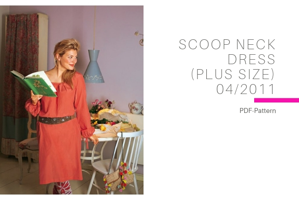 Scoop Neck Dress Plus Size