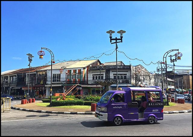 Tuk Tuk at the circle near Phuket Town central market