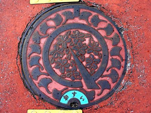 Maibara Shiga, manhole cover (滋賀県米原町のマンホール)