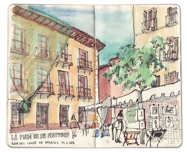 La plaza de los pintores