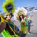 10. Vestidos de Carnaval en el Sambódromo de Rio de Janeiro, uno de los lugares divertidos que visitar en Rio de Janeiro