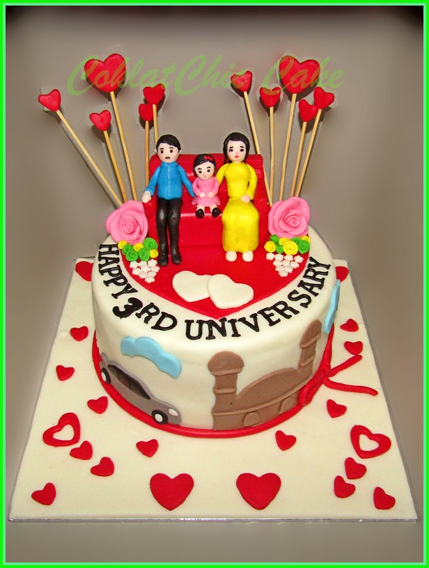 Anniversary cake family 15 cm