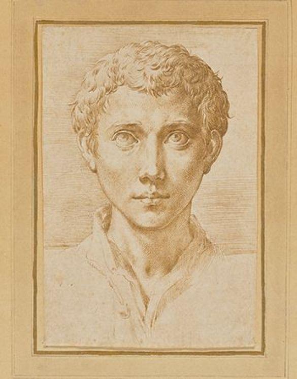 ParmigianinoFrancescoMazzolaTheHeadOfAYoungManAbout1539–1540PenAndBrownInk