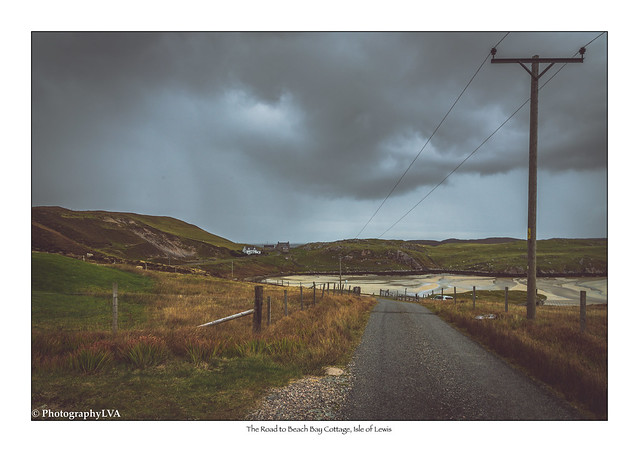 The Road to Beach Bay Cottage, Isle of Lewis