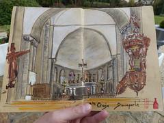 Choeur de l'abbatiale Sainte Croix à Quimperlé